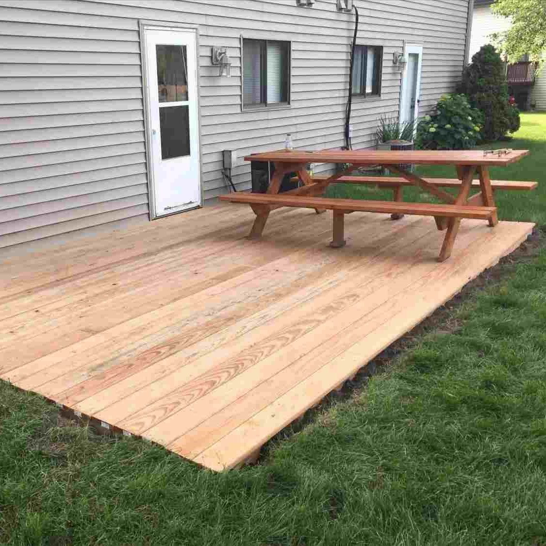 Simple Floating Deck - Home Decorated