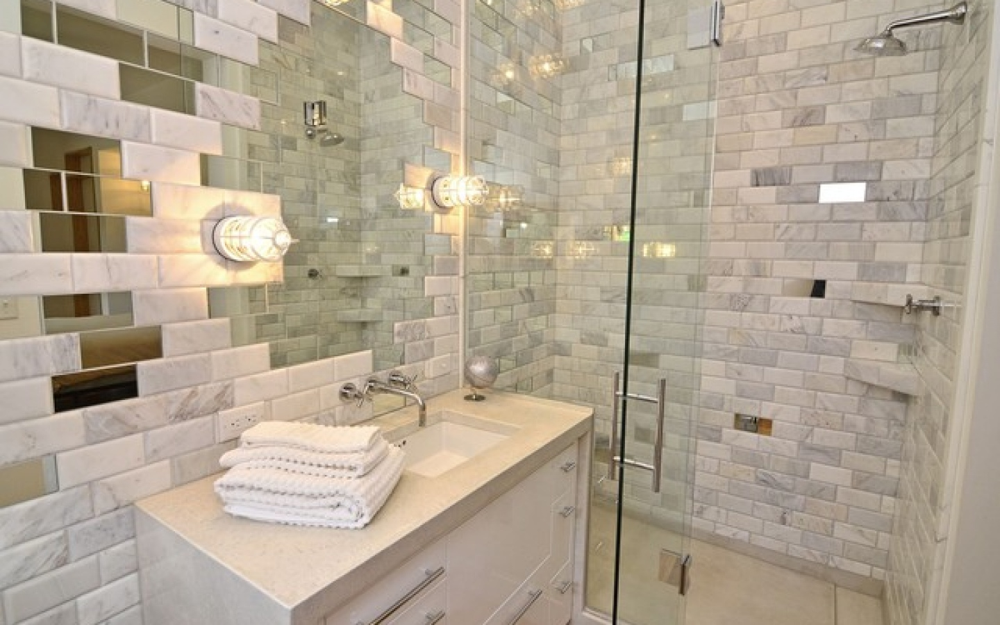 Mosaic Basement Bathroom