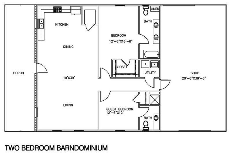 6 bedroom barndominium floor plans