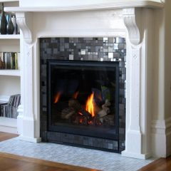contemporary fireplace tile design ideas