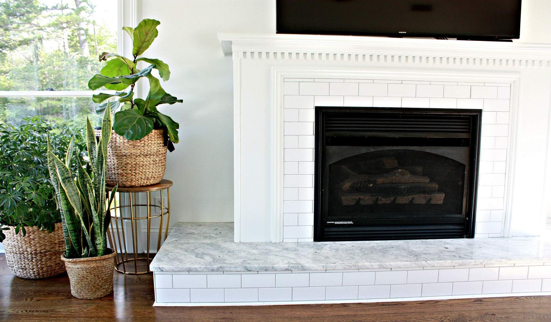 farmhouse fireplace tile ideas
