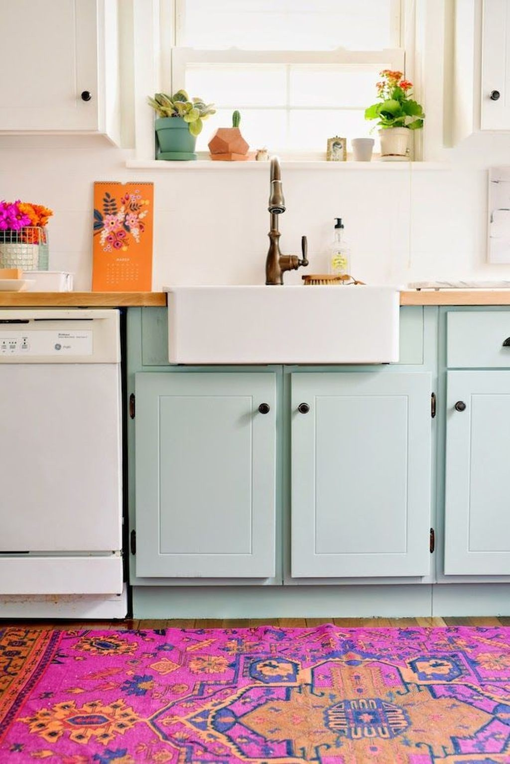 two tone farmhouse kitchen cabinets