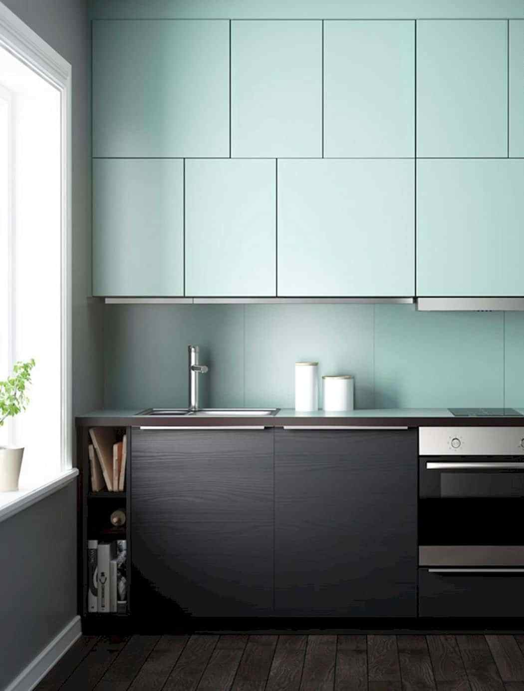 how to two tone kitchen cabinets