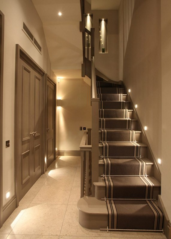 basement stairway lighting