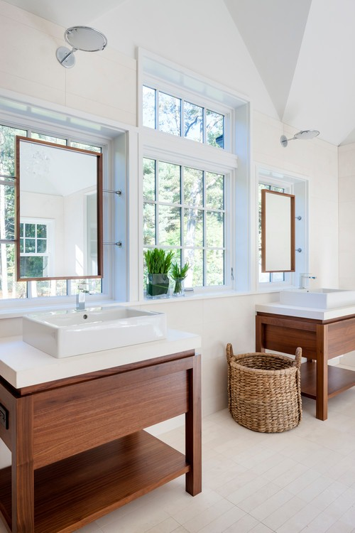 large bathroom mirror design ideas