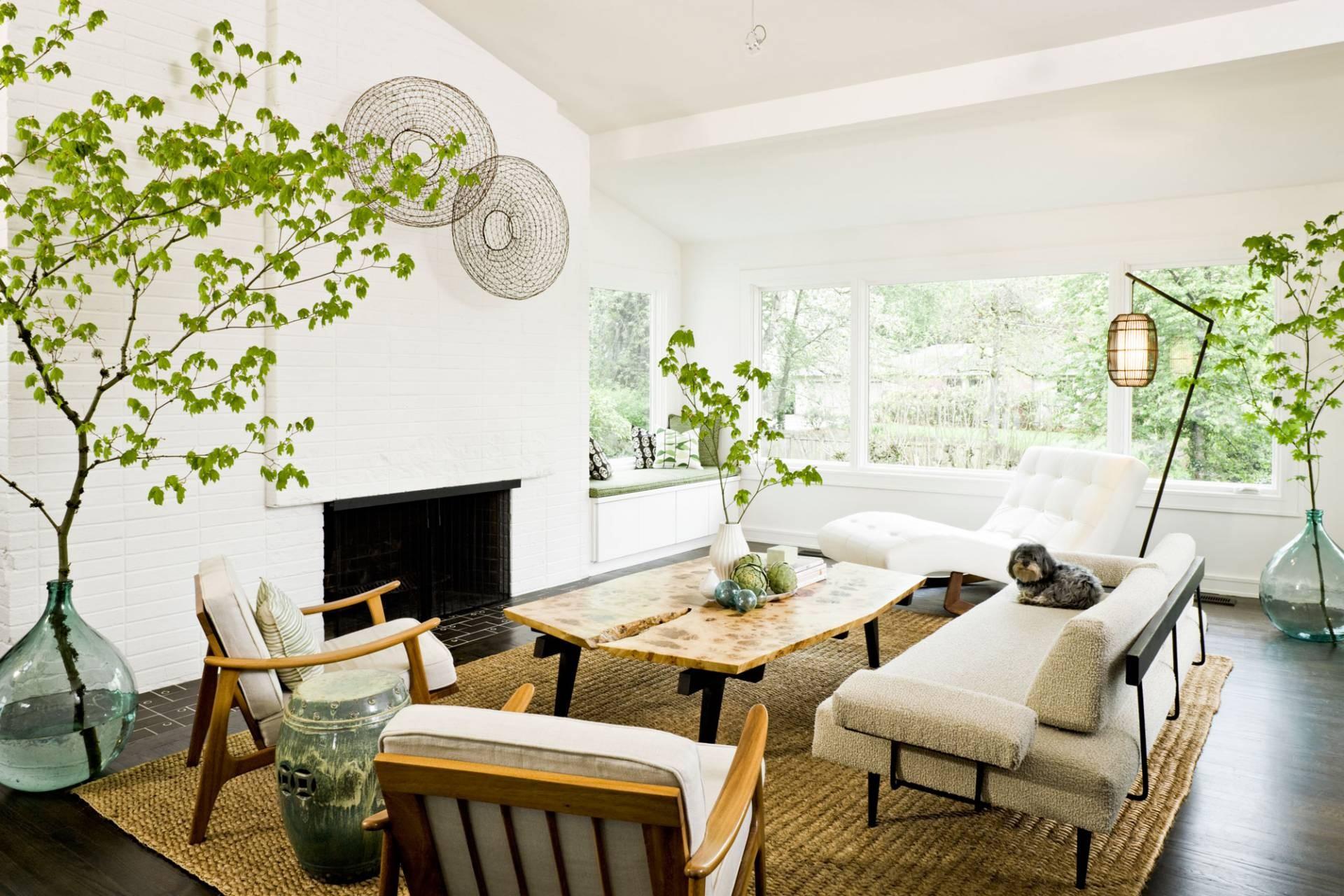 mid century modern living room wall decor