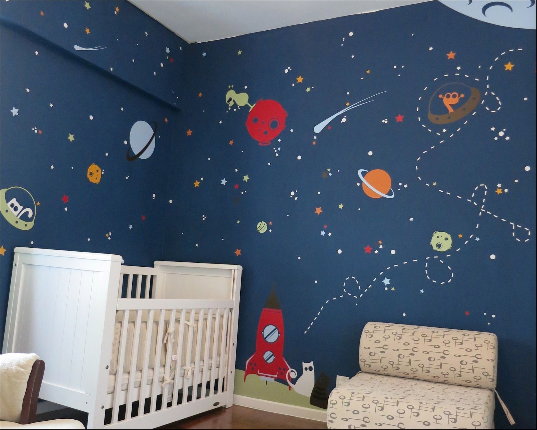 space themed room paint