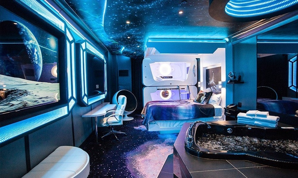 space themed party room
