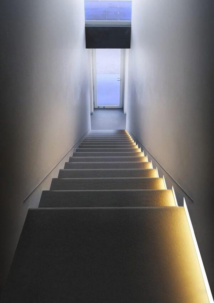above stairwell lighting