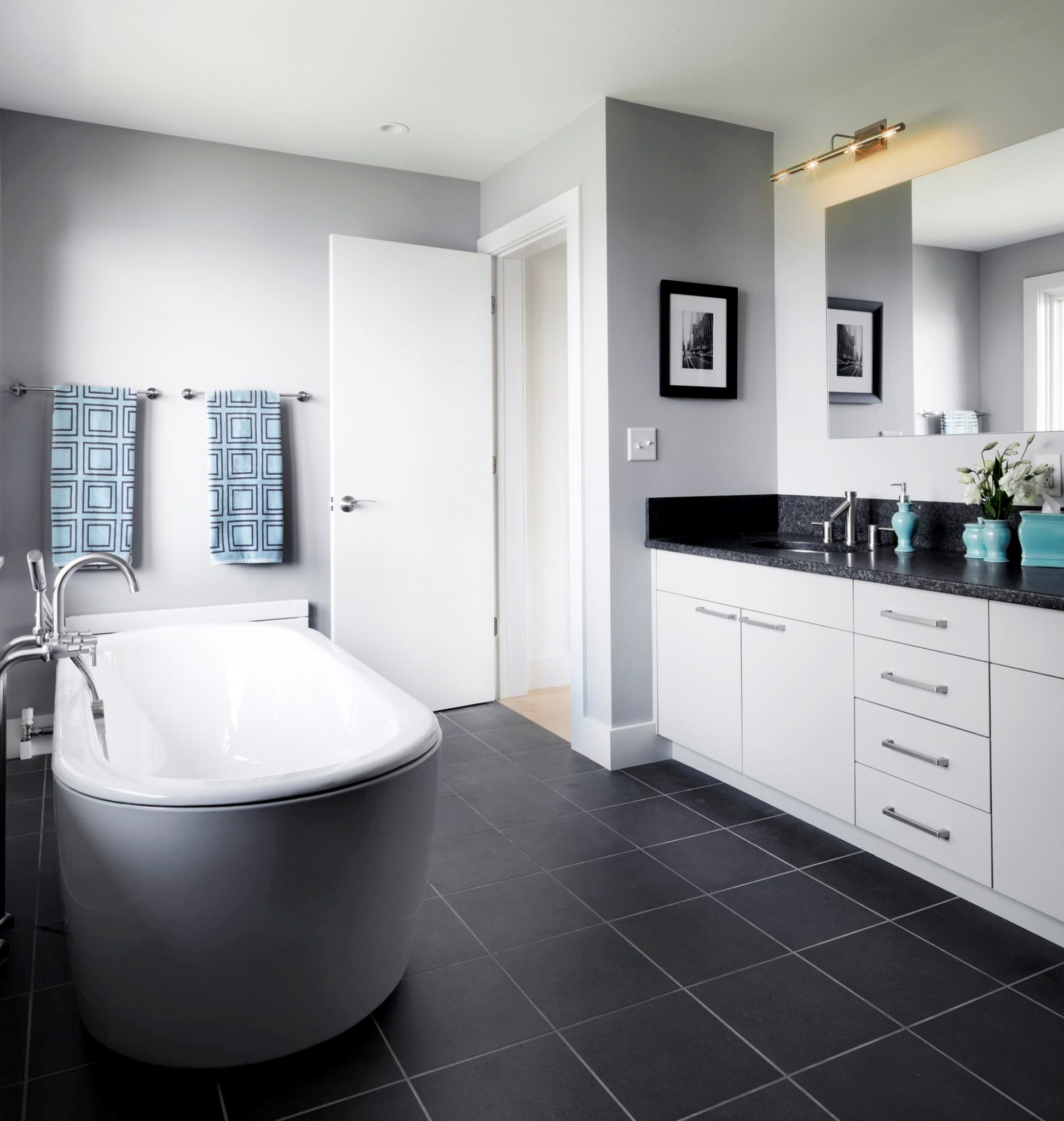 bathroom ideas grey and black