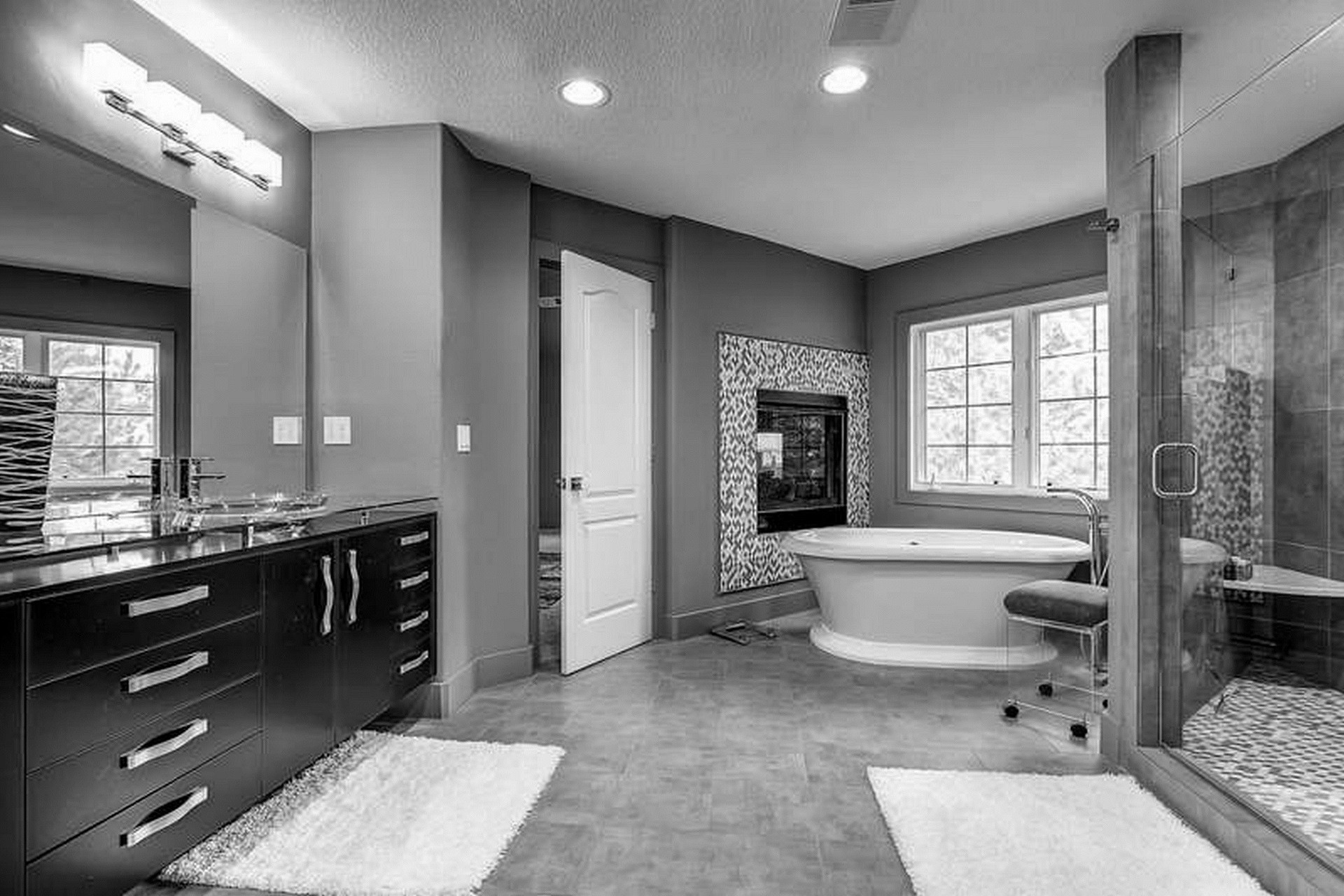 bathroom ideas grey and purple
